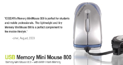 USB Memory Mini Mouse 800/品番GME224M64